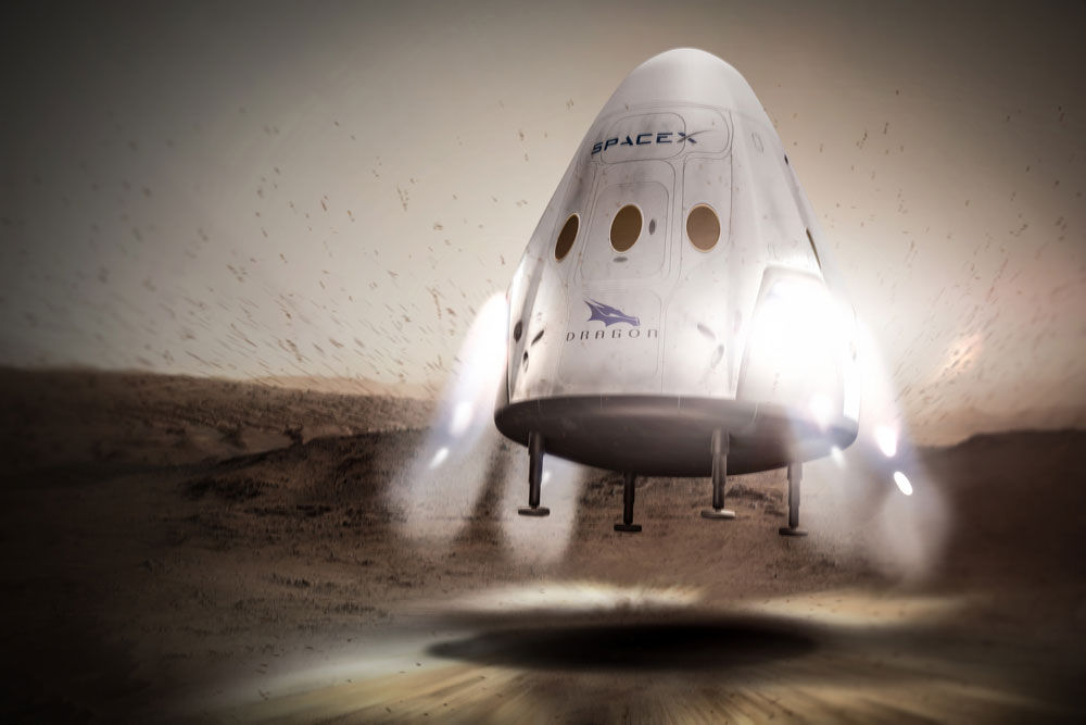 dragon landing mars spacex